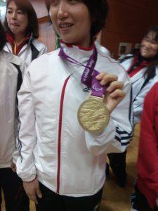 ロンドンパラリンピックで獲得した金メダル