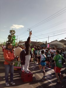 田中市長はスターター役の他に、2区の走者もこなしました